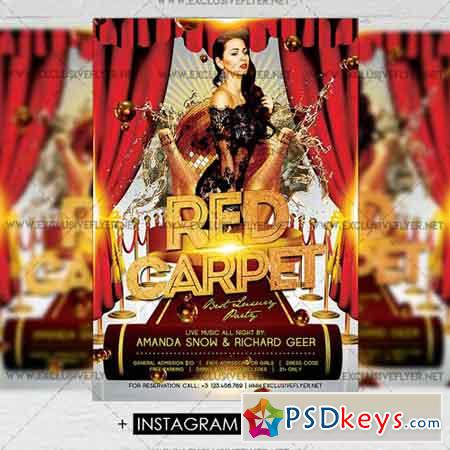 Red Carpet – Premium A5 Flyer Template
