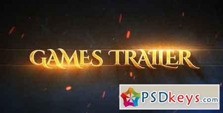 Games Epic Trailer 19880119 - After Effects Projects » Free