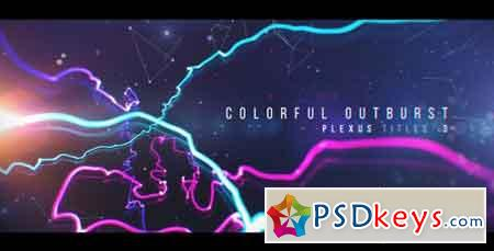 Plexus Titles 3 (Colorful Outburst) 19581783 - After Effects Projects