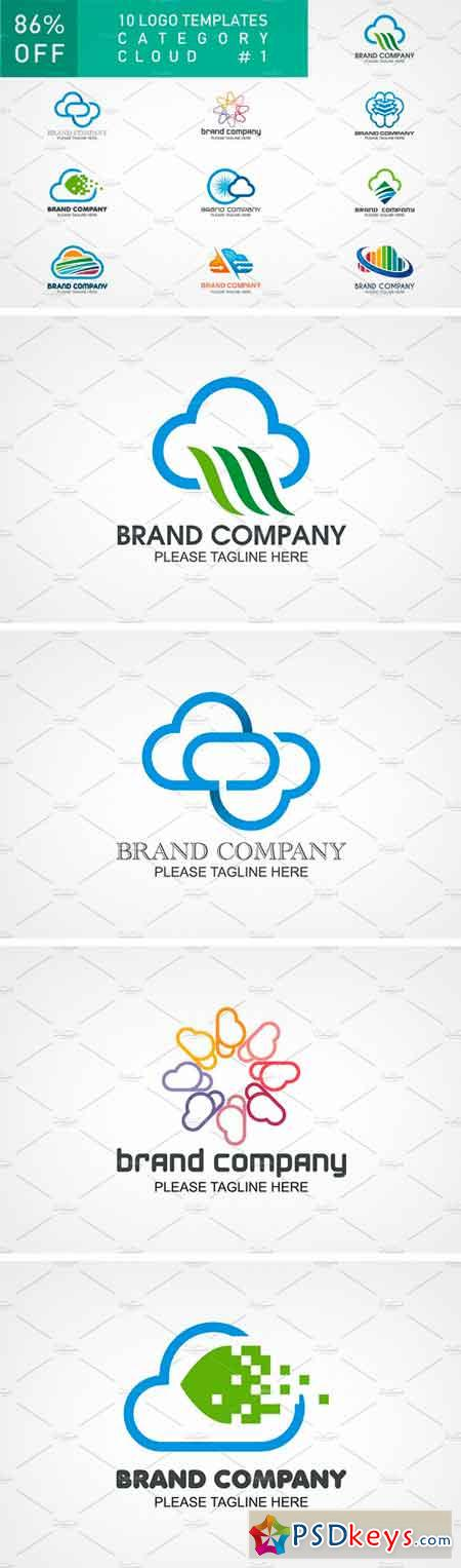 10 Logo Set - Cloud 1459932