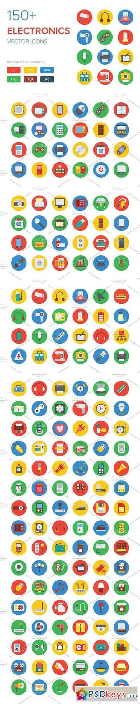 150+ Electronics Vector Icons 328582