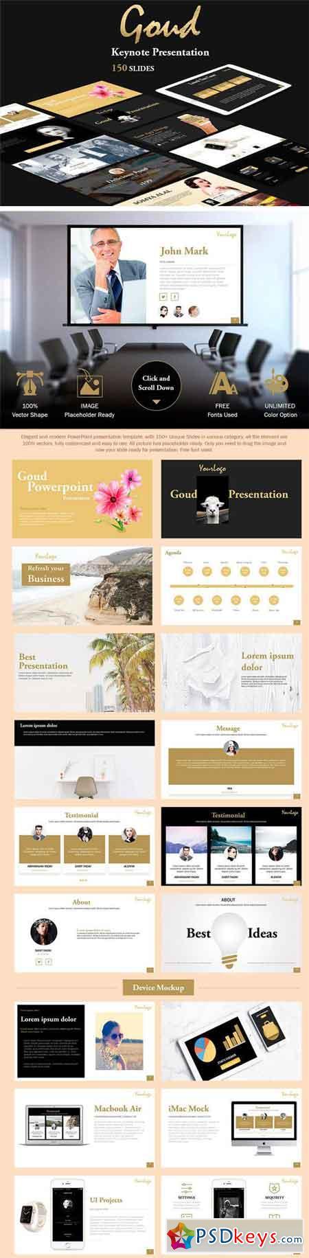 Goud Keynote Presentation 1479446 » Free Download Photoshop