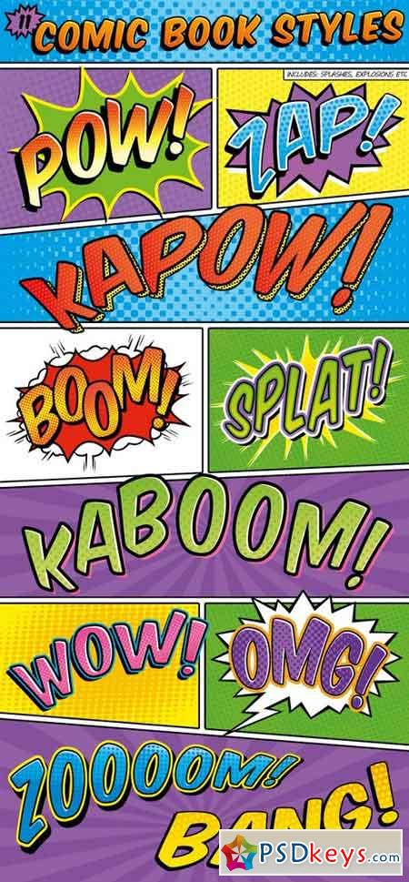 Comic Book Text Styles 10160791