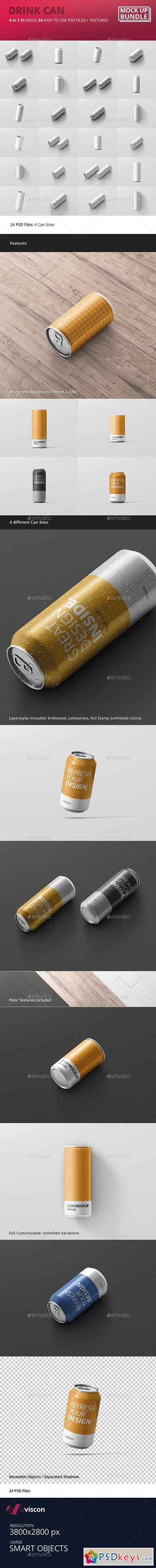 Drink Can Mockup Bundle 19499155