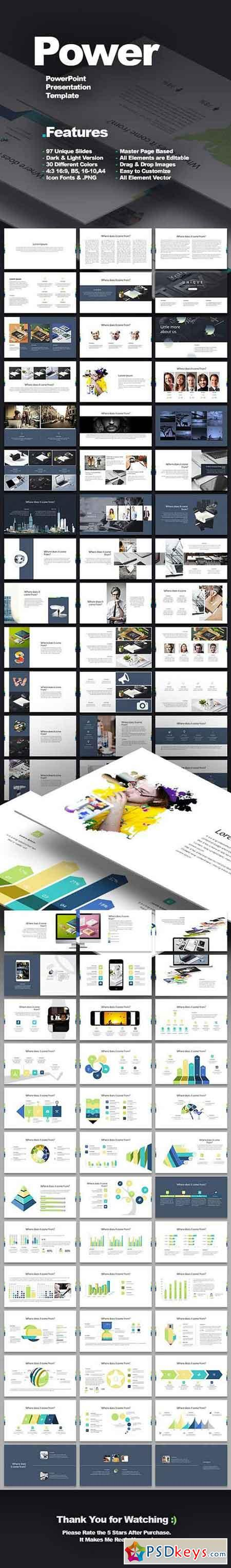 Power presentation template 1236575