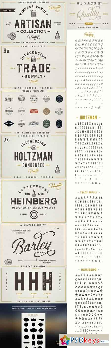 The Artisan Collection (Font Bundle) 1332314
