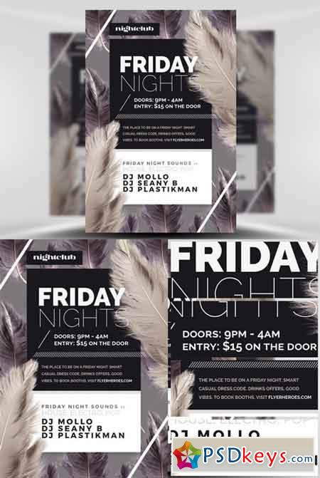 Feather Series - Friday Night Flyer Template