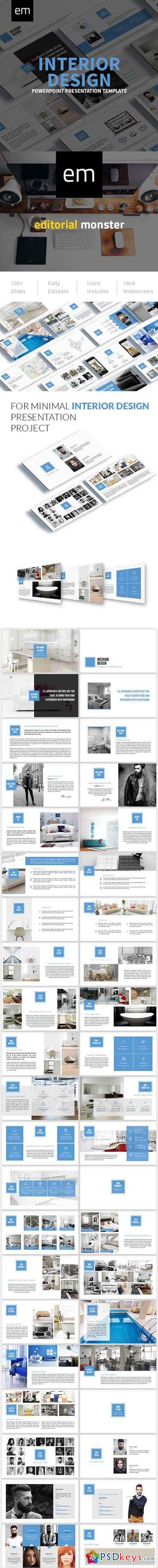 Interior Design Powerpoint Presentation Template 20004667 Free