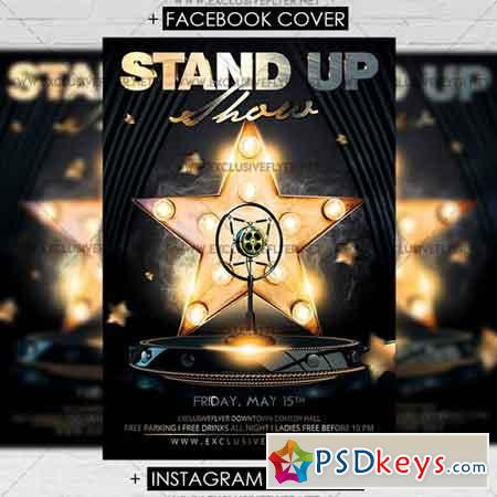 Stand Up Show Premium A5 Flyer Template Free Download Photoshop