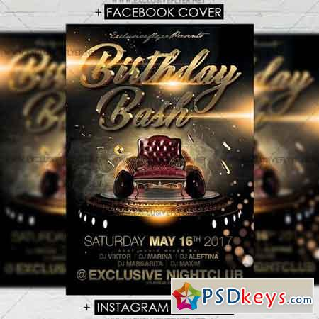 Birthday Bash - Premium A5 Flyer Template