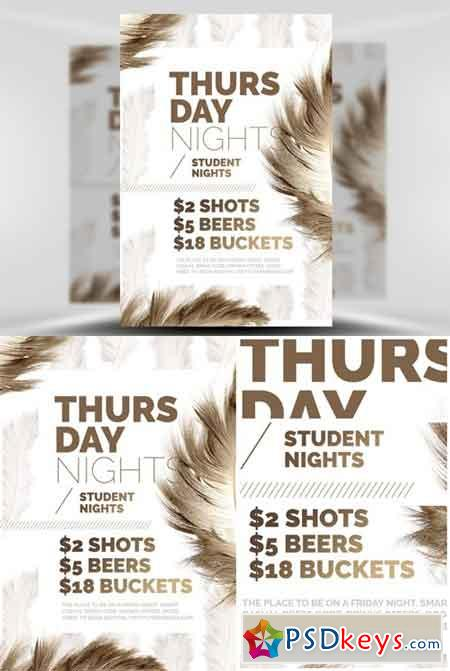 Feather Series - Thursday Nights Flyer Template