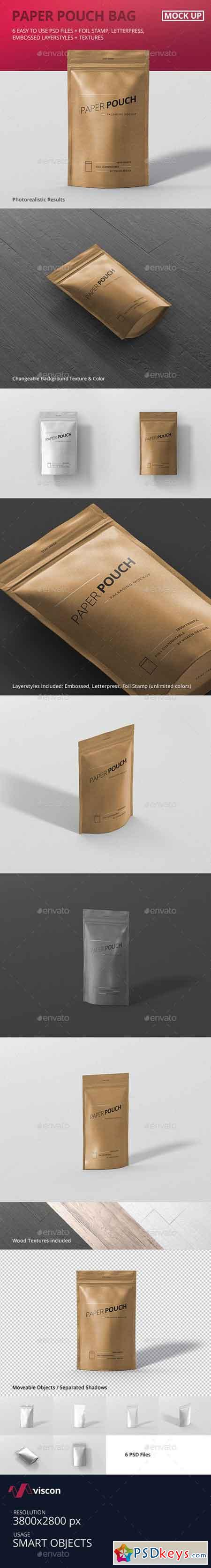 Paper Pouch Bag Mockup 19384276