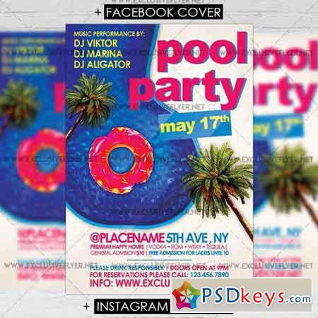 Pool Party - Premium A5 Flyer Template