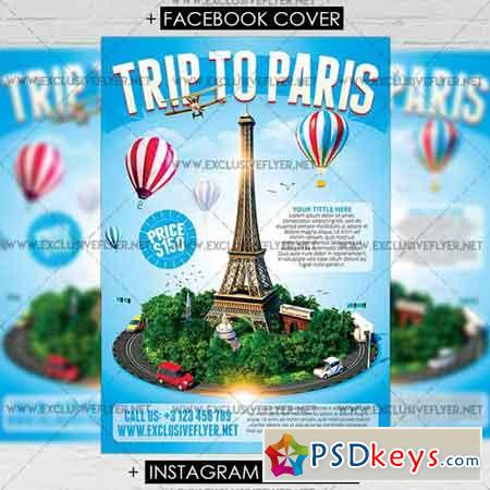 Trip to Paris - Premium A5 Flyer Template