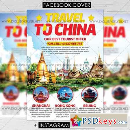 Travel to China - Premium A5 Flyer Template