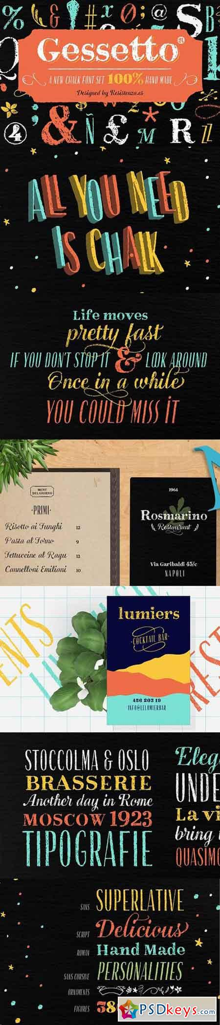 Gessetto Family (9 fonts) 1223416