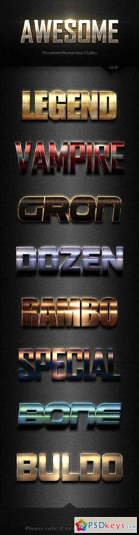 Awesome Photoshop Text Effects Vol.18 19135417