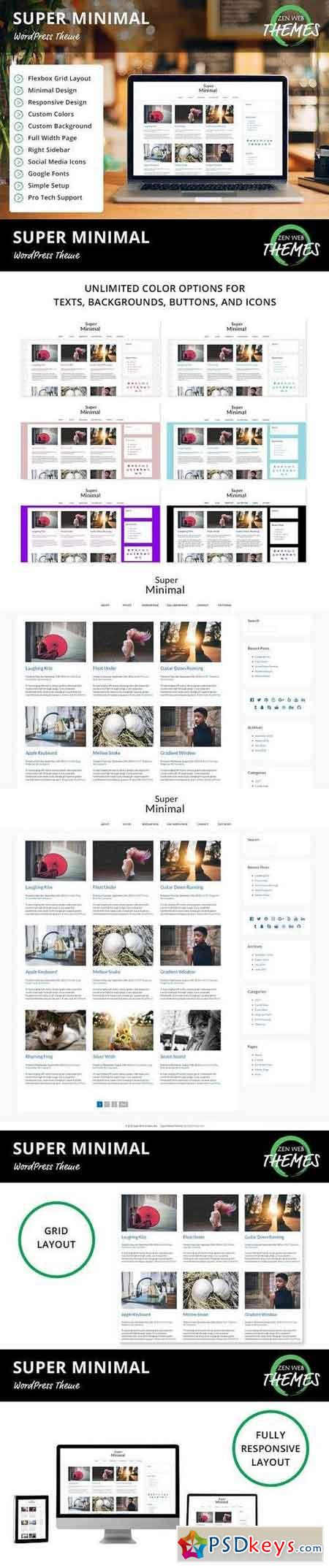 Super Minimal WordPress Theme 1099648
