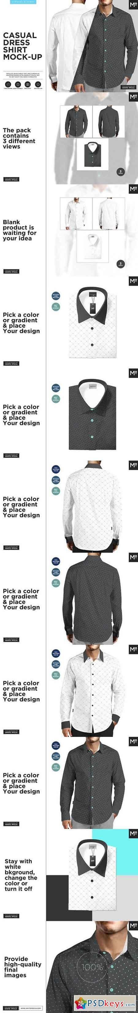 Casual Dress Shirt Mock-up 1470862 » Free Download Photoshop