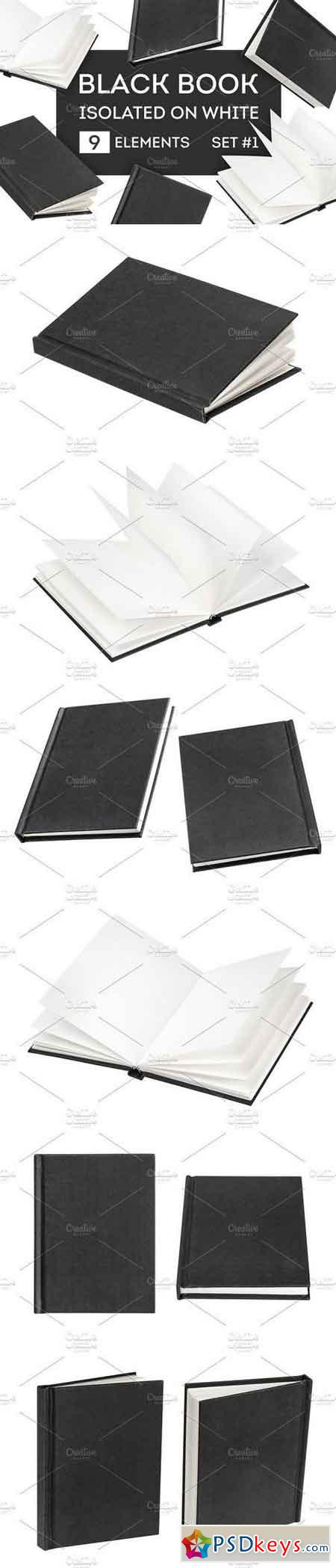 Black book mock-up isolated on white 1274525