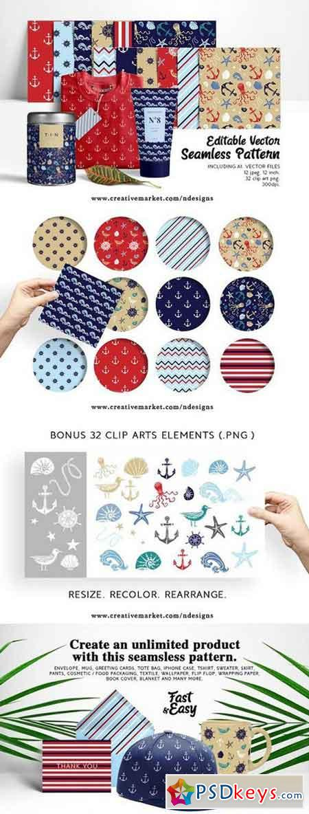 Nautical Paper Pattern Set 1470658