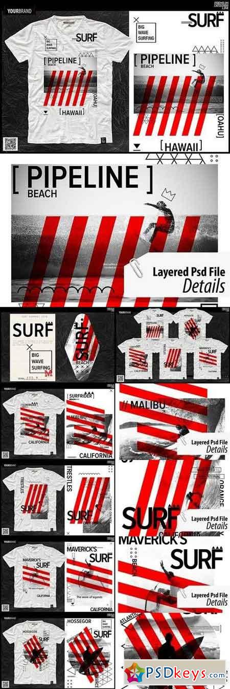 Surf Themed T-Shirts 1274934