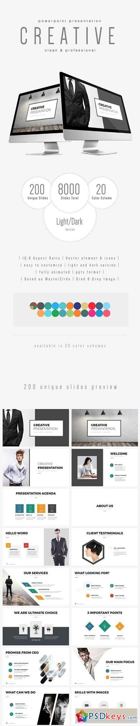 CREATIVE - Multipurpose PowerPoint Template (V.32) 18049620