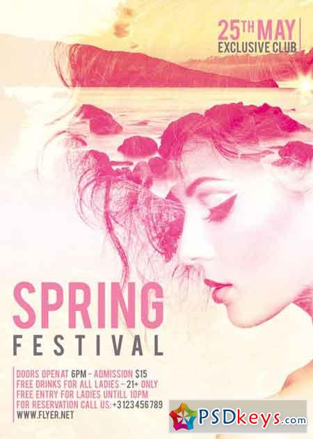 Spring Festival - Premium A5 Flyer Template