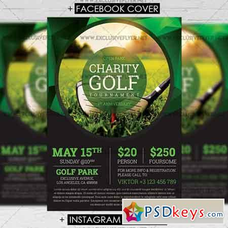 Golf Tournament - Premium A5 Flyer Template