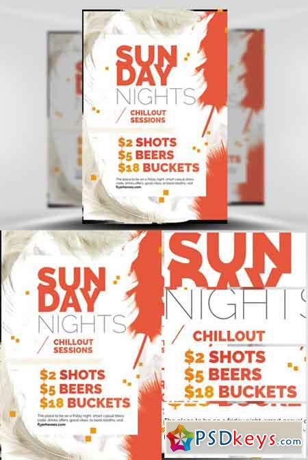 Feather Series - Sunday Night Flyer Template