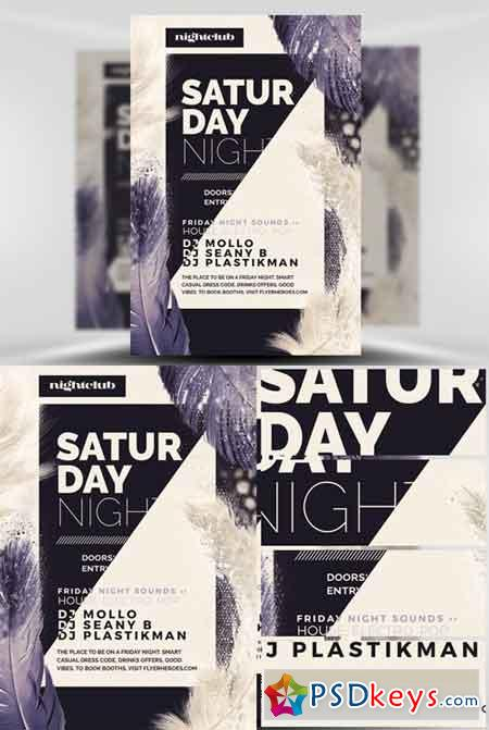 Feather Series – Saturday Night Flyer Template