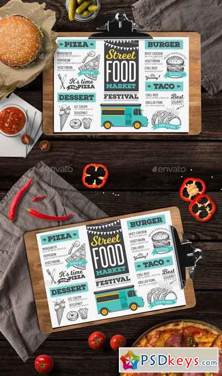 Food Truck Menu 20043109 » Free Download Photoshop Vector