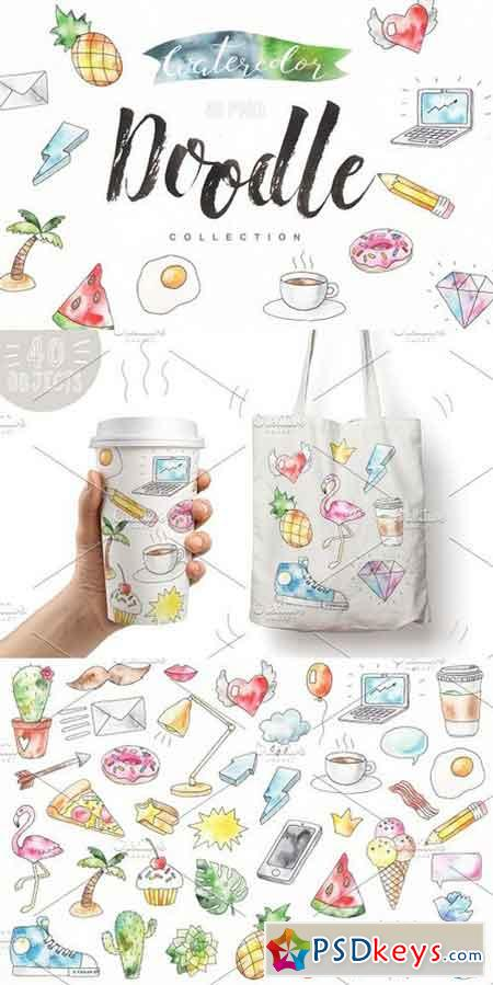 Watercolor Doodle ICONS 1473675