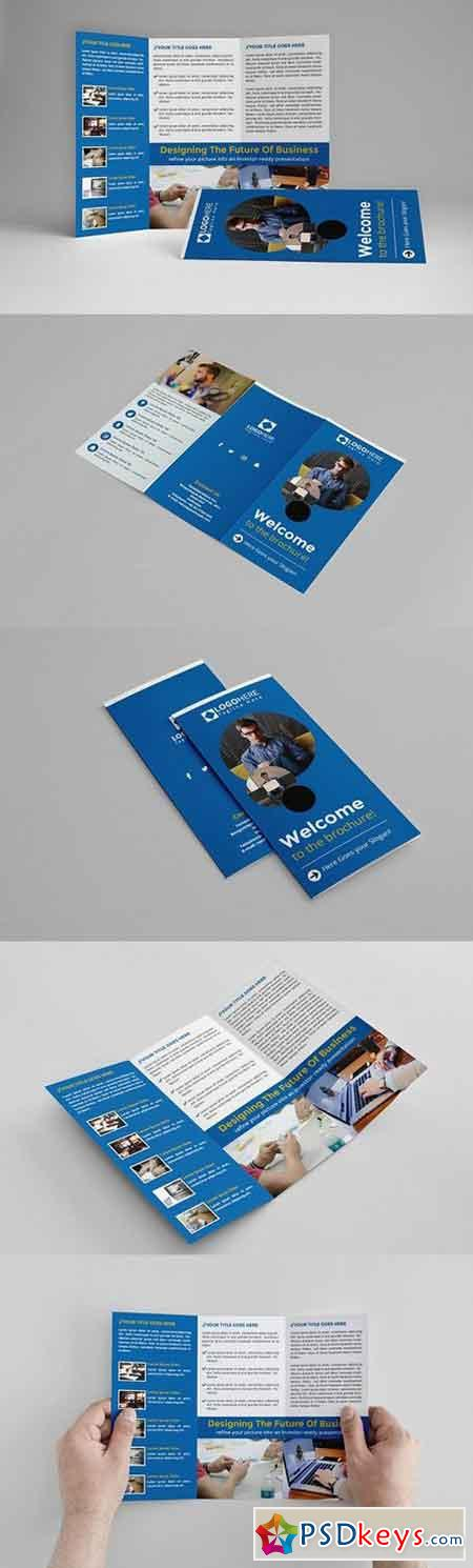 Blue Trifold Brochure 1472086