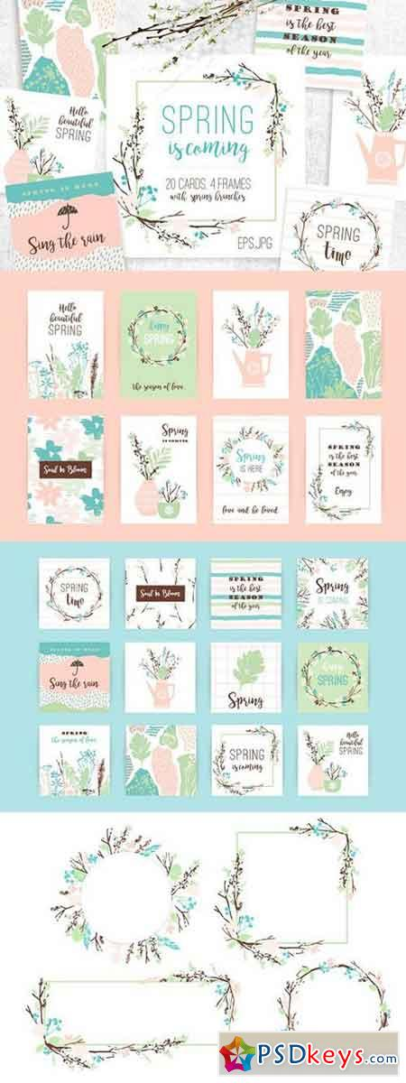 Spring is coming! Cards and frames. 1447157