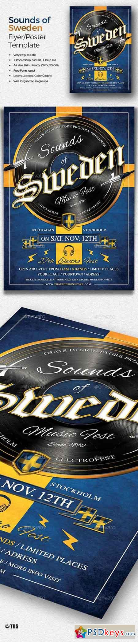 Sounds of Sweden Flyer Template 20051914