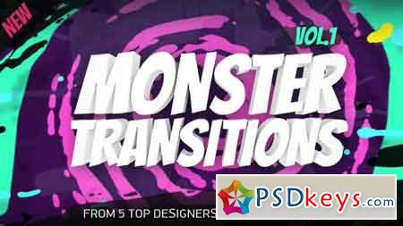 125+ Monster Transitions 19696211 - After Effects Projects