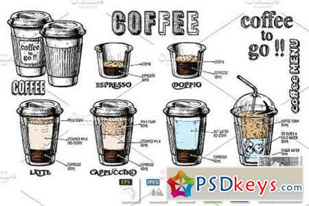 coffee infographics set 1473286