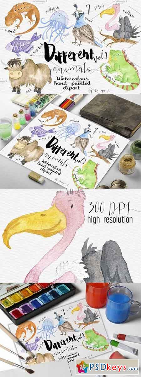 Different Watercolor Animals Vol.2 1450868