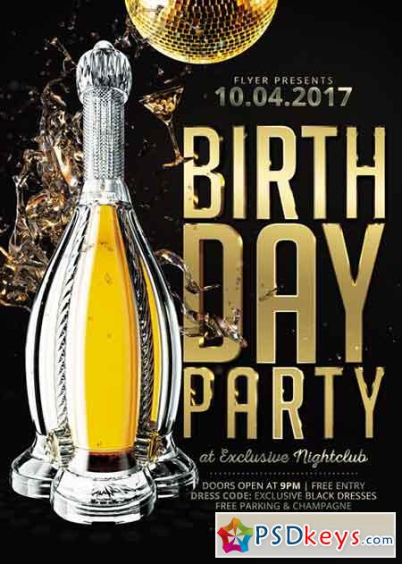 Birthday Party - Premium A5 Flyer Template
