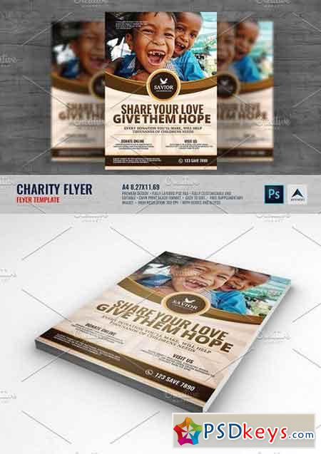 Charity Flyer Template 1493732 Free Download Photoshop Vector