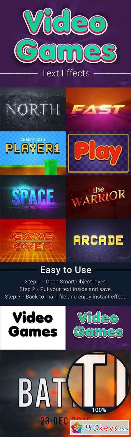 Video Games Text Effects Mockup 1286326