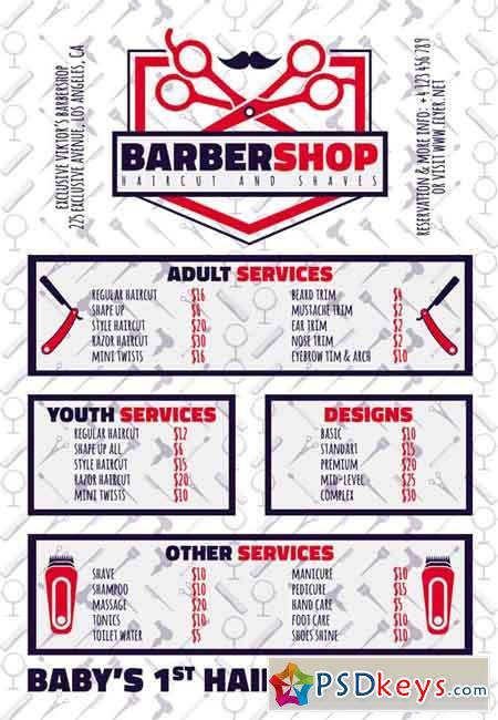 Exclusive Barbershop - Premium A5 Flyer Template