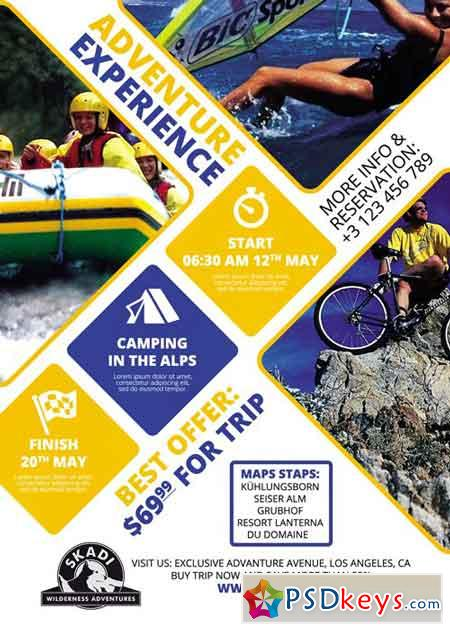 Camping Adventure - Premium A5 Flyer Template