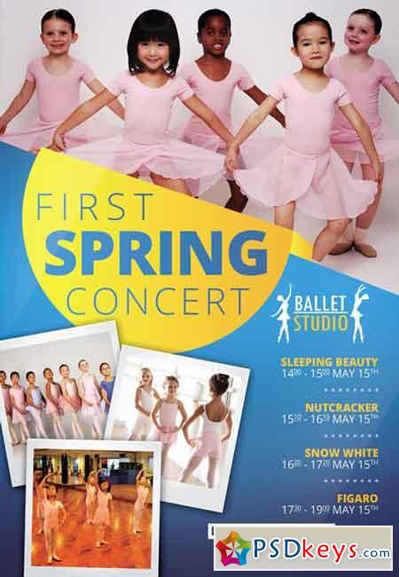 Kids Ballet Classes - Premium A5 Flyer Template