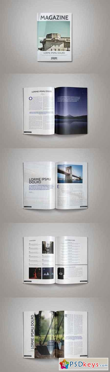 Indesign Magazine Template 3