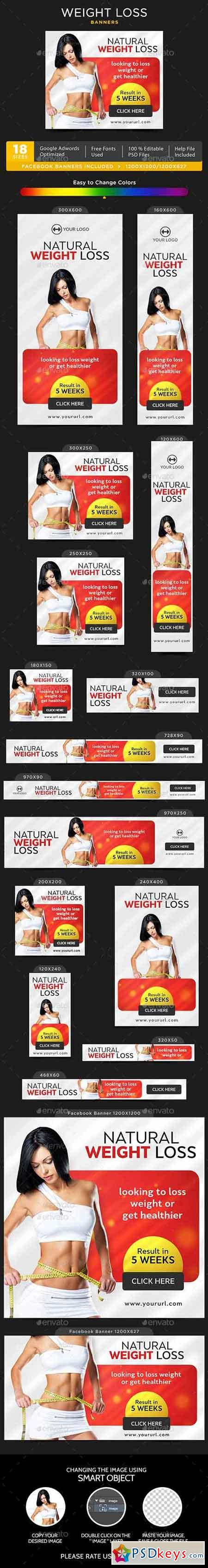 Fitness Banners Bundle - 10 Sets - 180 Banners 17799479