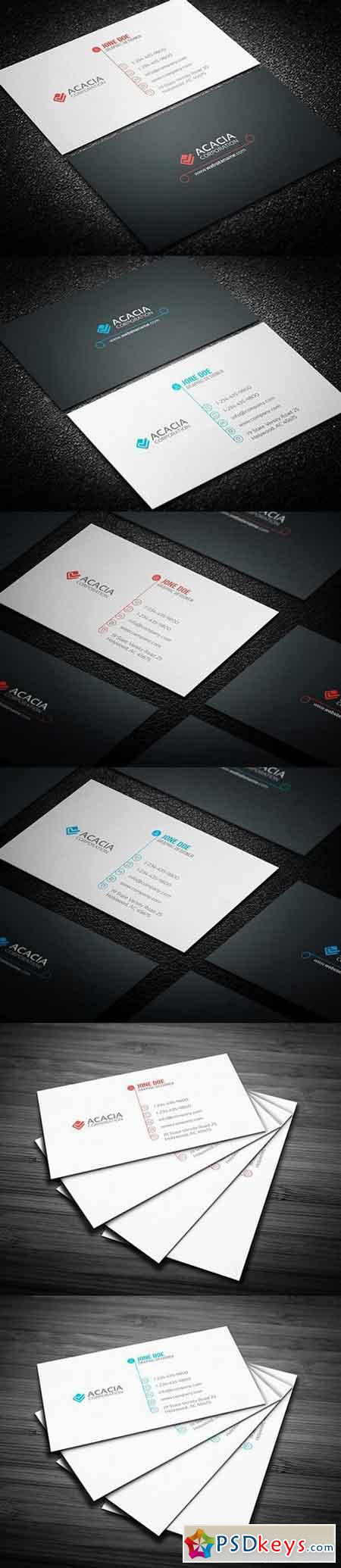 Round Business Card 898356