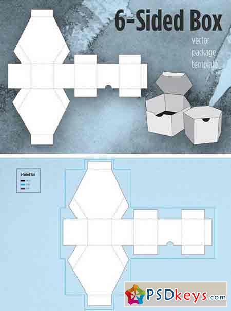 6 Sided Box Package Template 1494670 Free Download Photoshop
