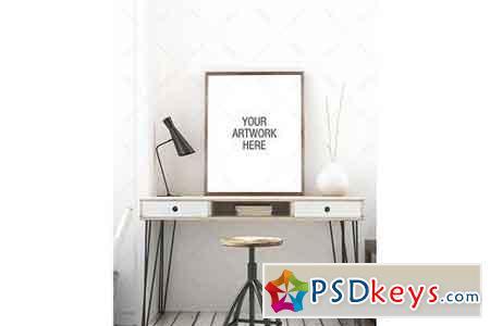 Poster Mockup Minimalist Workspace 1047215